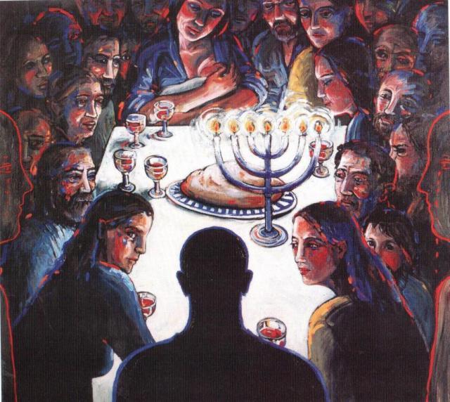 gecpmprimeerd Margaret Ackland Last Supper 1993