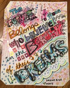 caity's art, follow your dreams
