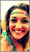 close up hippie girl